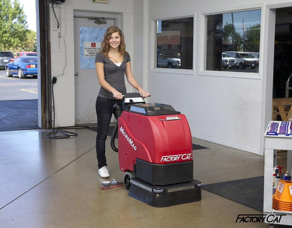 Micromag Walk Behind Floor Scrubber Machine